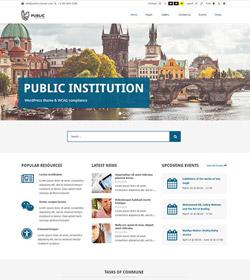 Public Institutions + WCAG 2.0 / ADA / 508 Standards